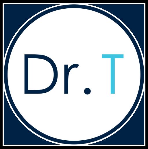Dr. Tiff Fuel. Sweat. Science. Dr. T logo
