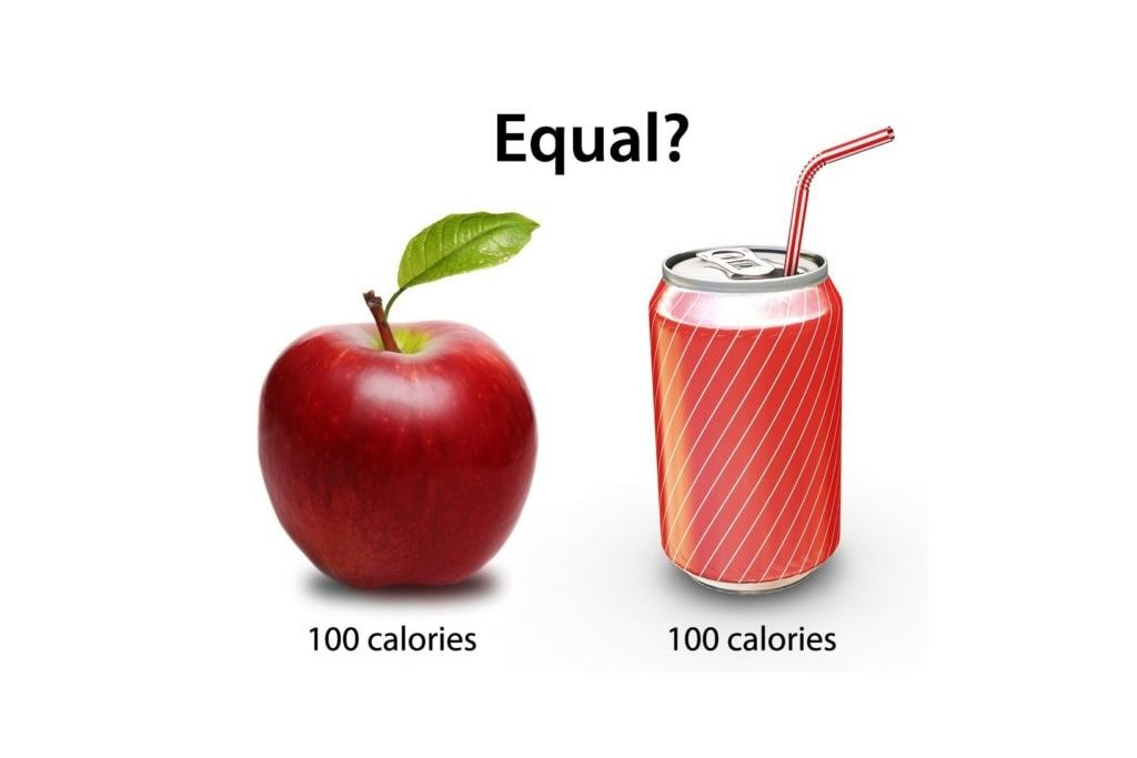 Apple vs a can of soda. Both have 100 calories but are they the same?