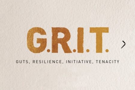 Grit acronym for guts, resilience, initiative, and tenacity
